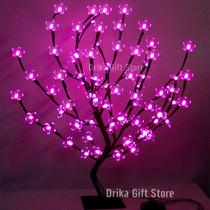 Luminaria Arvore Flores Cerejeira 80 Leds Rosa Veja O Video