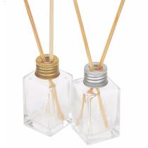 100 Kit Frasco Difusor Aromatizador Vidro Quadrado 2 Varetas