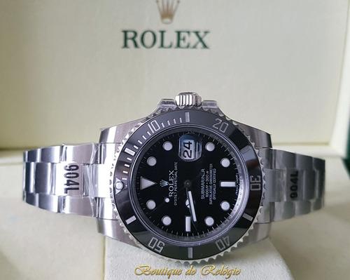 86251d3080a Relógio Eta - Mod Rolex Submariner Preto Sa3135 Gmf Aço 904l