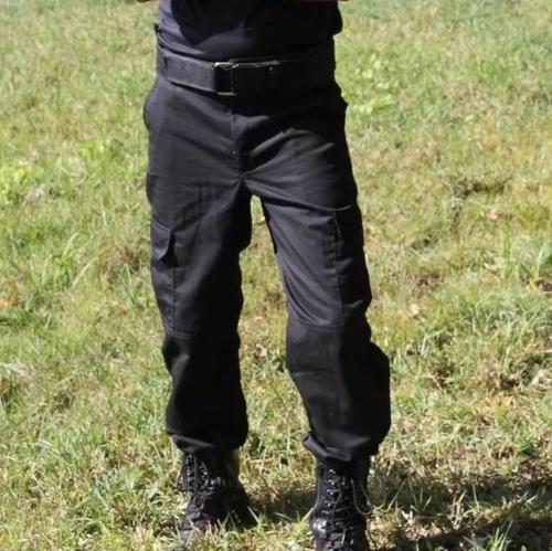 1f5cf2191be14 Kit C/ 10 Calças Tática Rip Stop Preta Segurança Privada