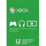 Xbox Live Gold - 12 Meses - Código 25 Dígitos - Imediato