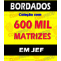 600 Mil Bordados Em Jef - Para Janome Elna Em Dvd