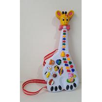 Guitarra Infantil Girafa Musical 26 Teclas Som E Luz