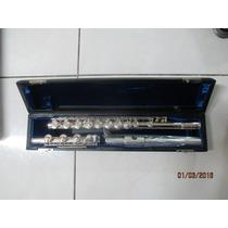 Flauta Nova Emerson Prata Maciça Pé Em Sí (b) Aberta.