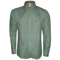 Camisa Social Ricardo Almeida Verde Lisa