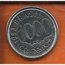 Moeda Brasil 1000 Cruzeiros 1993 - Acará - Aço Inoxidável