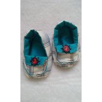 Sapatinho Mocassim Baby Estampas Variadas Costura À Mão