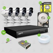 Kit Sistema Monitoramento Completo 8 Câmeras Luxvision Hd1tb