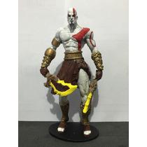 Kratos - The Gods Of War Em Resina De 18 Cm Pintado À Mão
