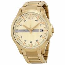 Relógio Armani Exchange Ax2131 Dourado Original Frete Grátis