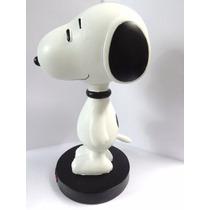 Enfeite De Mesa Snoopy D Resina Pescoço De Mola Frete Grátis