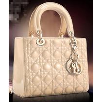 Bolsa Christian Dior Lady Di Bege Na Caixa 100% Original