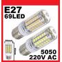 Lampada Led 69  Branco  E27 15w 220v  1 Lote Com 5 Unidades