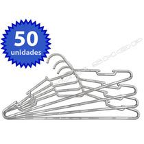 Kit Com 50 Cabides De Acrílico Transparente