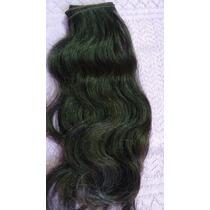 Cabelo Humano Ondulado Castanho Tela 50gr 50cm -mega Hair
