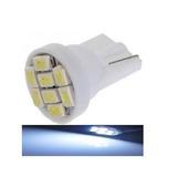 Lampada T10 8 Led Branca Pingo W5w Luz 6000k Unidade