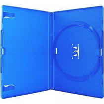 25 Estojo Capa Box Azul Para Dvd Xbox360 Filme Ou Cd Amaray