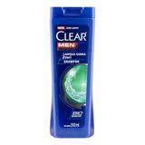 Shampoo 2 Em 1 Anticaspa Clear Men Limpeza Diária 200ml
