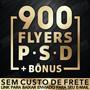 produto Flyer Psd Para Adobe Photoshop 900 Flyers + Mockups + Bônus