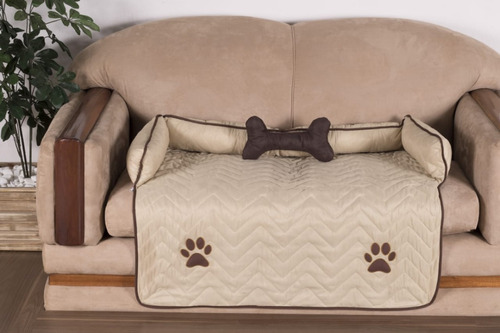 Protetor De Sofá Pet Para Cachorro Cor Avelã - Oferta