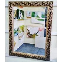 Espelho Grande 80x60cm C/ Moldura- Enviamos Para Todo Brasil