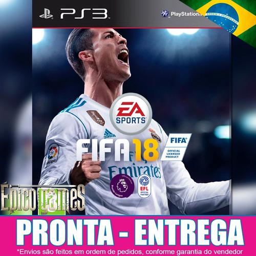 Jogo Digital Fifa 18 Ps3 Código Psn Dublado Em Português
