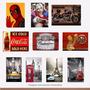 Kit 15 Placas Decorativas Retro Vintage Heróis Frases 20x30