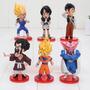 Conjunto 6 Miniaturas Dragon Ball Wcf Goku Dabura Videl