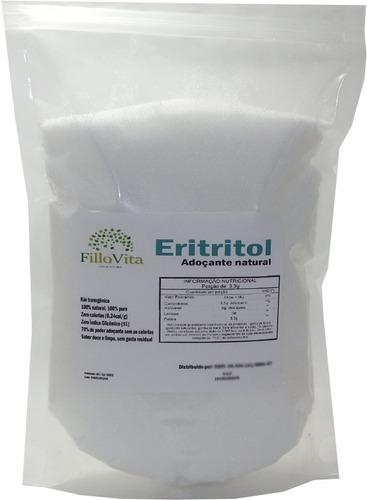 Eritritol Puro 1kg Importado Cristal