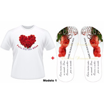 Kit Presente Dia Das Mães Camiseta + Chinelo Personalizado