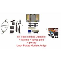Kit Uno Antigo 4 Portas - Vidro Eletricos + Travas + Alarme