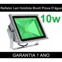 Refletor Holofote Led Verde 10w Bivolt Prova D