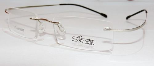 Armação Oculos De Grau Silhouette Sem Aro Titanium Prata 6f32205b9b