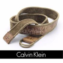 Cinto Masculino Calvin Klein Esport Em Couro Original