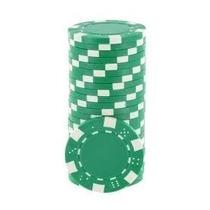 Fichas De Poker Dice 11,5 Gr Lote Com 25 Fichas - Verde