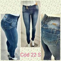Calça Jeans Feminina Sawary Levanta Bumbum Com Lycra
