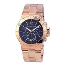 Relógio Original Michael Kors Mk5410 Rosé E Azul