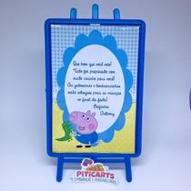 Plaquinha George Pig Peppa Pig Aniversário Festa Infantil