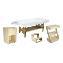 58d85ac52d60 Kit Estetica Marfim Maca Fixa Escada Carrinho Z E Armario
