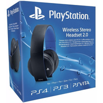 Headset Gold 7.1 Wireless Stereo Sony Ps4 Ps3 Ps Vita Pc