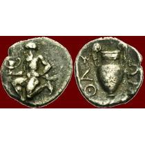 Thasos, Tracia, Trihemiobol. Moeda Antiga Grega Grécia