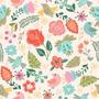 Papel Vinílico Floral Bonito Pp 55x150cm