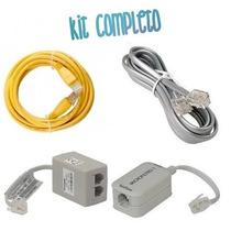 Kit Micro Filtro Duplo,simples Linha Cabo Telefone\adsl.