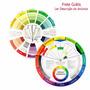 Circulo Disco Cromático Color Pequeno Wheel 13 Cm - Frete G