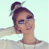 Óculos Feminino De Coração Proteção Uv 400