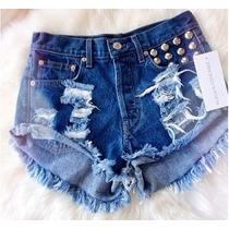 Short Shortinho Destroyed Hot Pant Feminino Verão