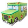 Puff Bau Infantil Para Guardar Brinquedos Verde