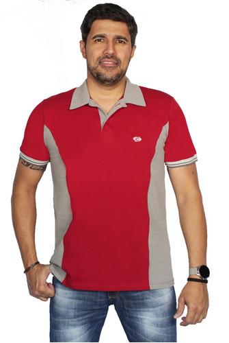 Camisa Polo Plus Size Piquet Com Recorte Masculino Zambelê 8998acbf357a0