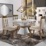 Sala Jantar 4 Cadeiras Cronos Chanfro Premium Siena Dd
