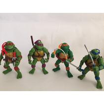 Kit Com 4 Bonecos Tartarugas Ninjas Colecionaveis